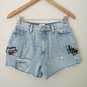 Hudson Sade Butterfly Cut Off Shorts Size 27